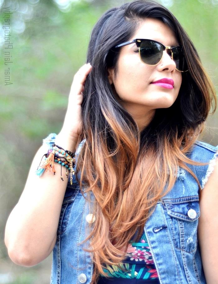 mechas californianas cabelo longo e preto