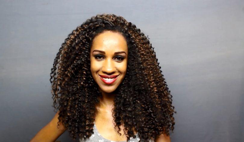 mega hair cacheado longo sintético