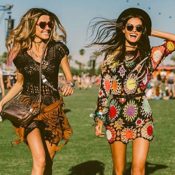 moda hippie amigas