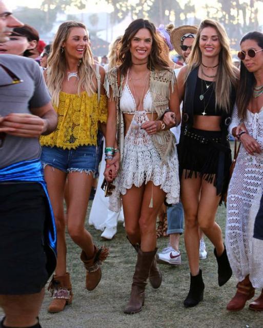 moda hippie roupas crochê