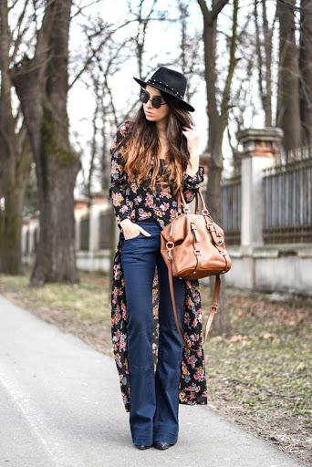 mulher moda hippie