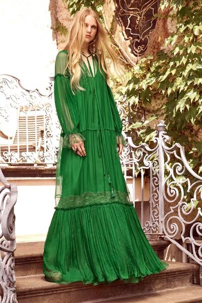 vestido verde feminino