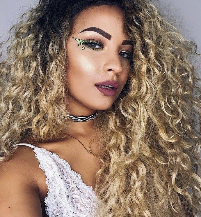 cachos mega hair loiro