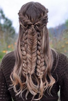 tranças bonitas medieval cabelo longo