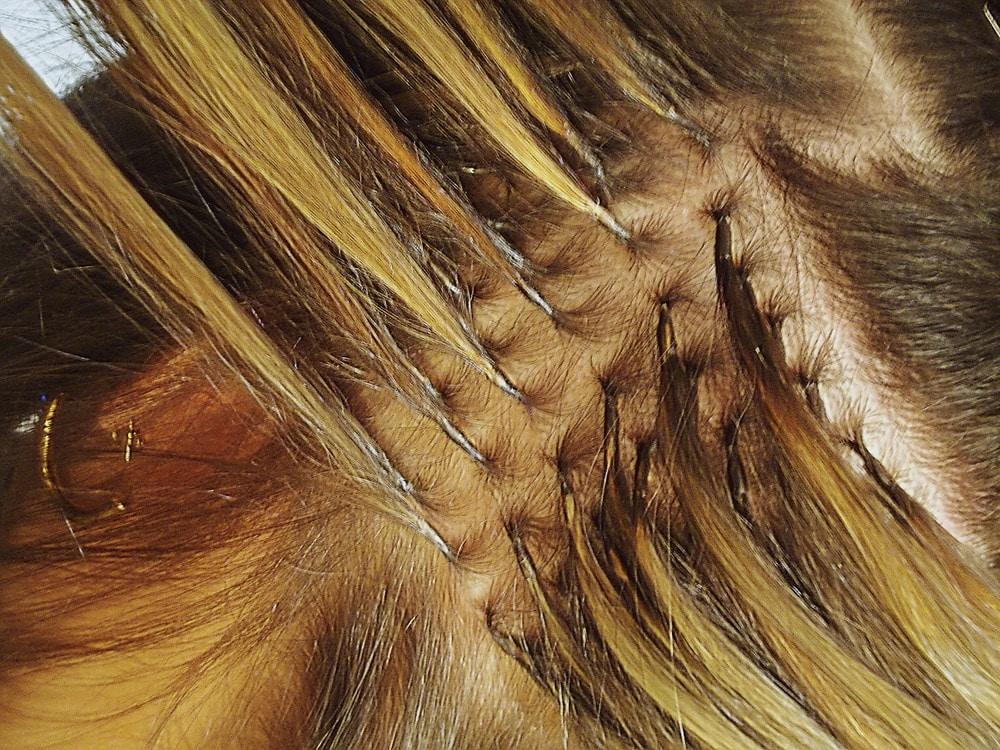 mega hair cacheado com queratina