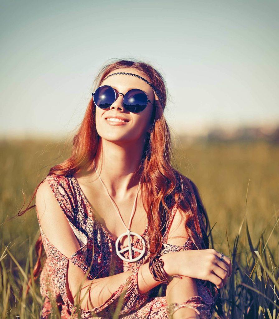 mulher hippie