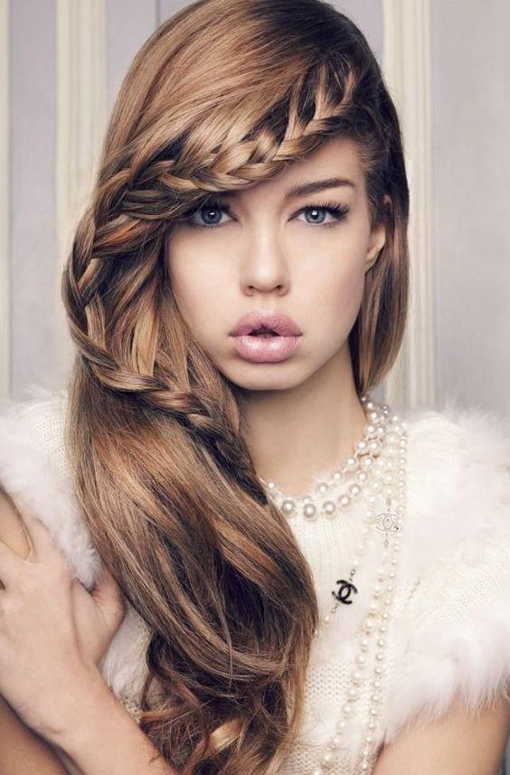 cabelos com tranças bonitas