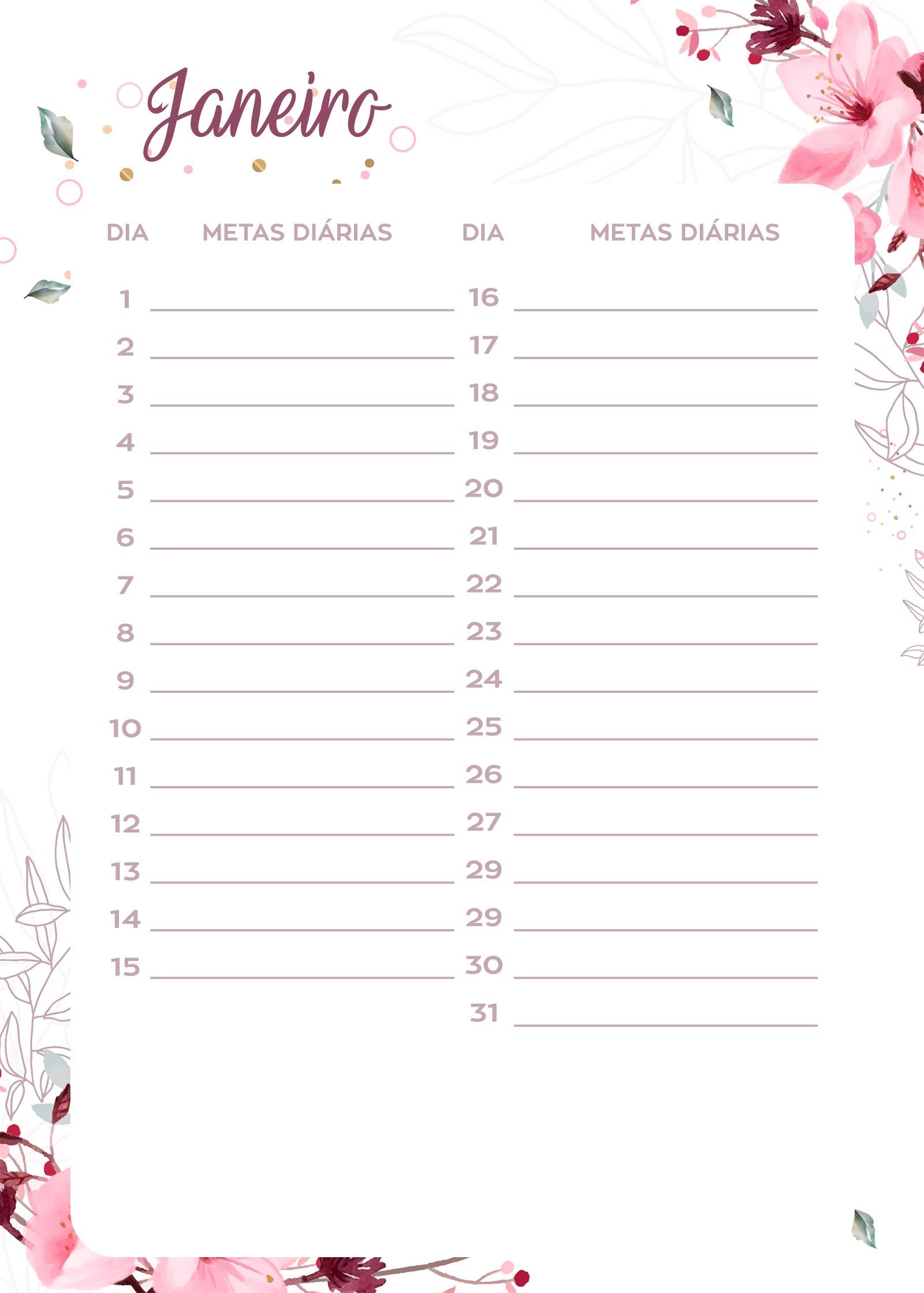 lista de tarefas planner 2020