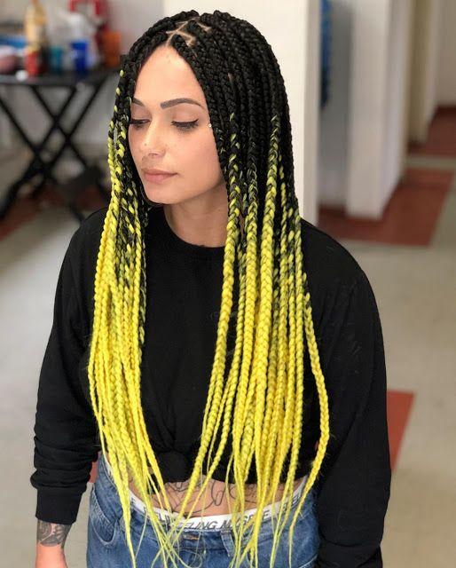 ombre hair amarelo