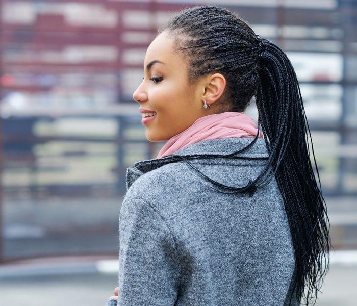 tranças box braids longas pretas finas