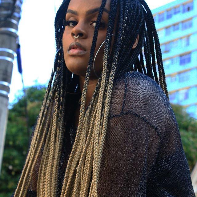 tranças jumbo ombre hair