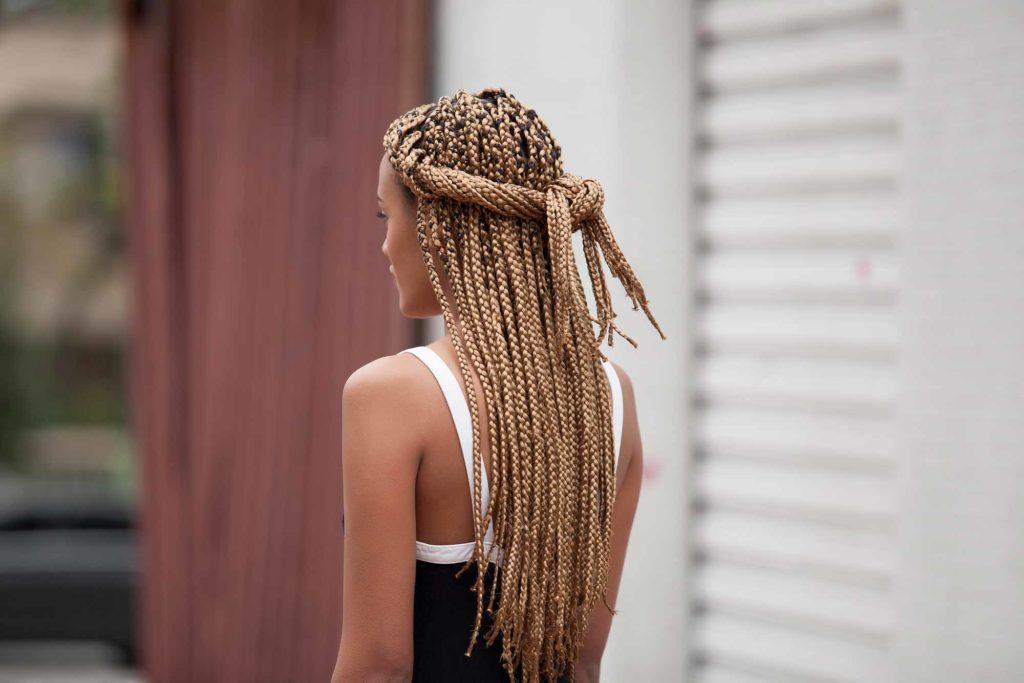 penteado tranças jumbo
