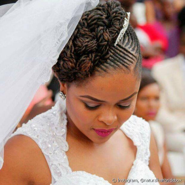 tranças afros casamento