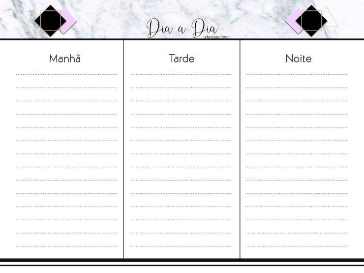 controle diário planner 2020