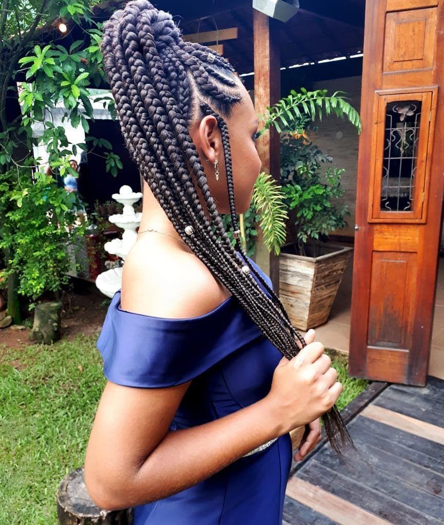 como prender cabelo com tranças afros