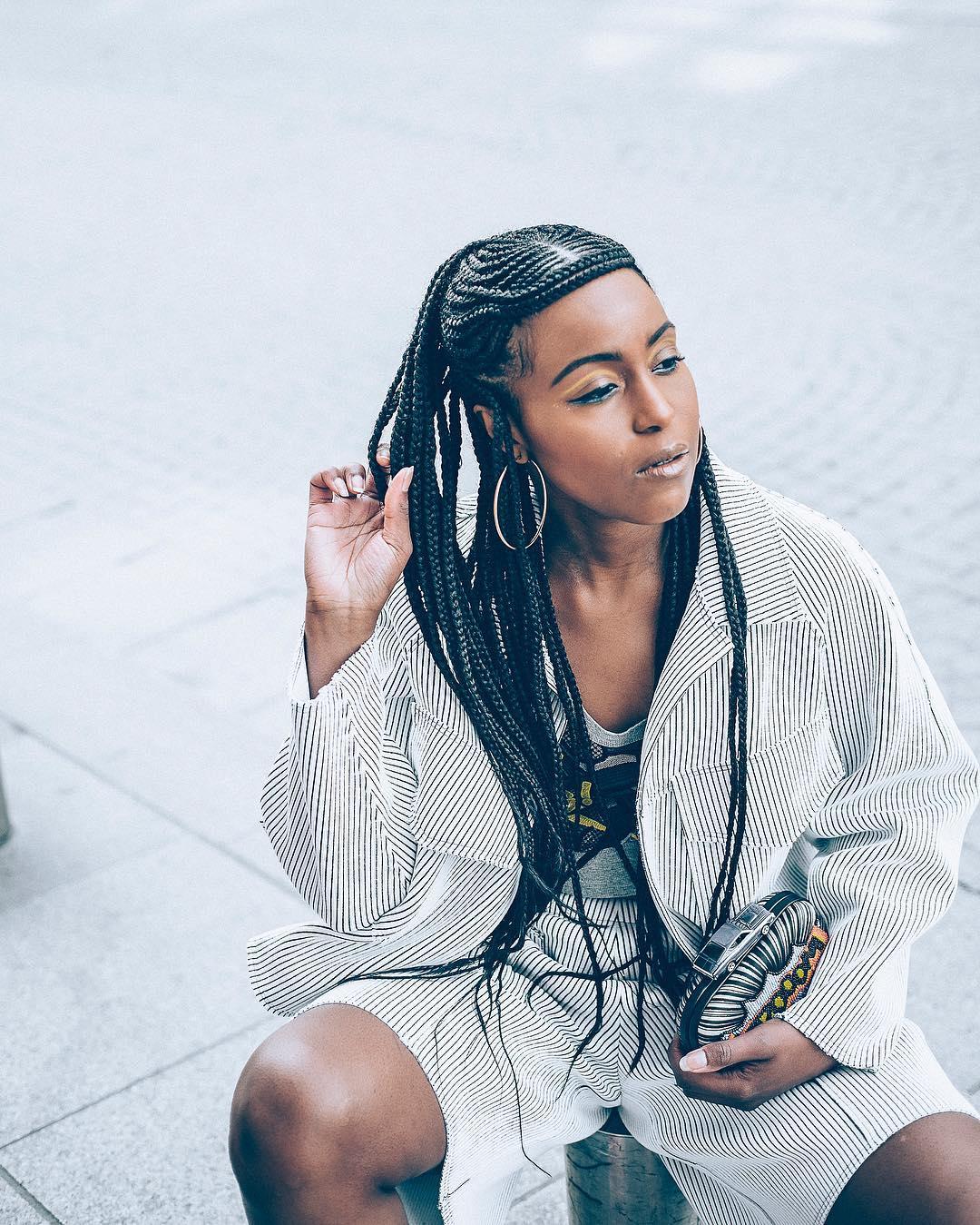 Tranças afros look moderno