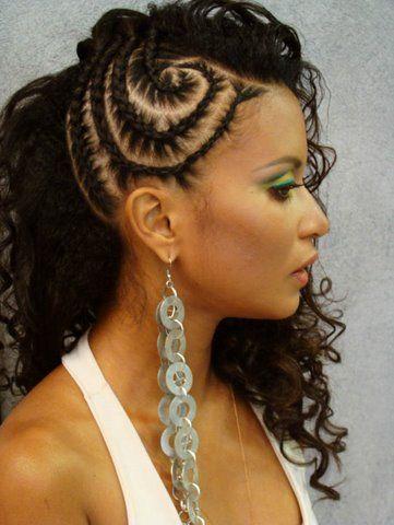 mulher penteado de festa