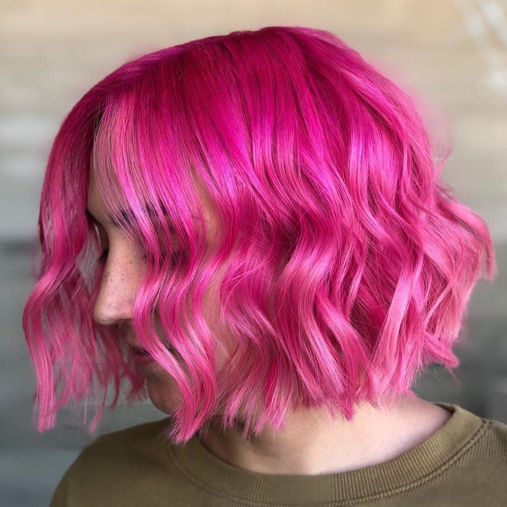 corte curto rosa