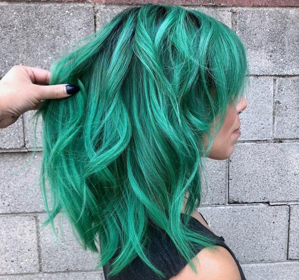 coloração fantasia verde