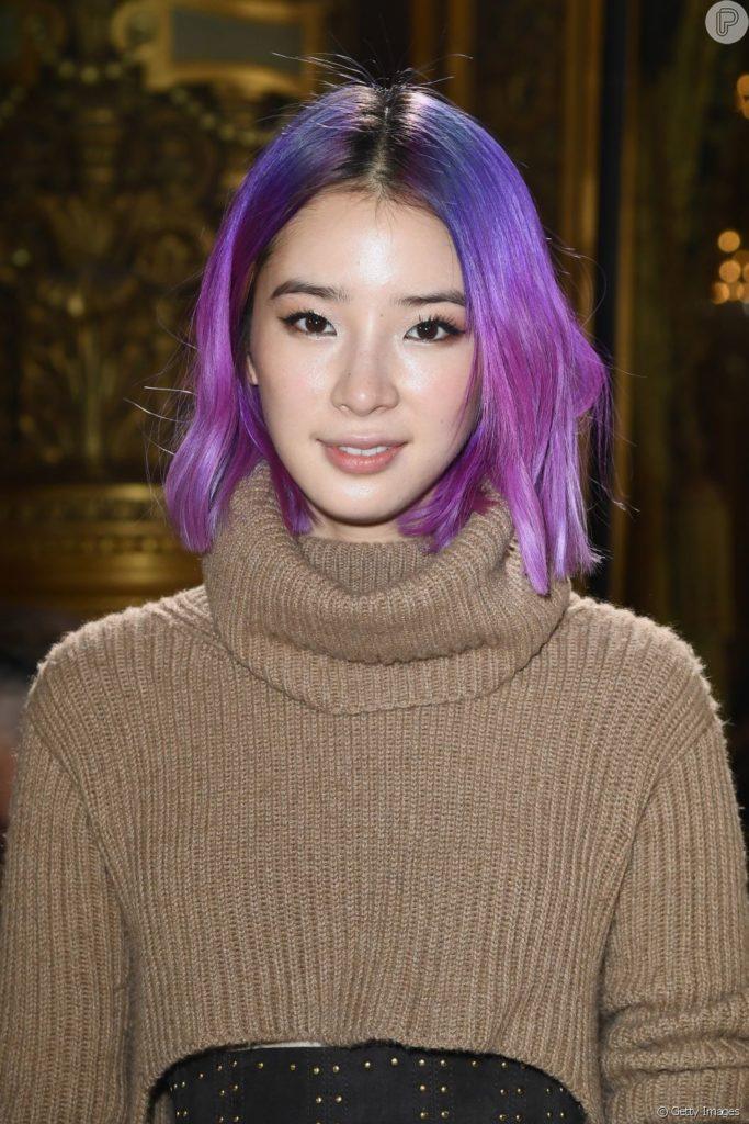 cabelo colorido roxo
