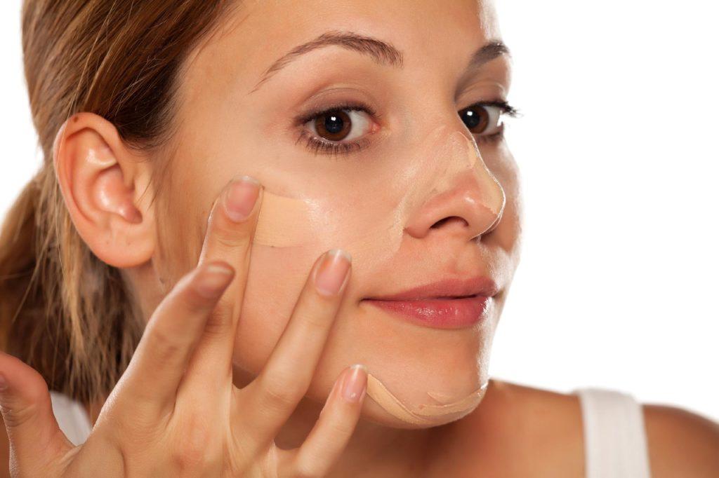 cobertura da base para pele oleosa